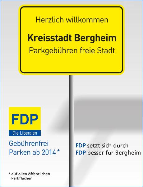 Anzeige-Bergheim-ohne-Parkgebühren